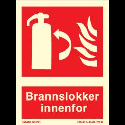 Skilt - brannslukker innenfor