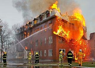 Brann i blokk